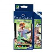 faber castell anime art set - feer - 8 blyanter / 1 2b blyant / 1 artist pen / 1 pensel - Kreativitet