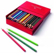 faber-castell - grip 2001 water soluble colour pencils in studio box, 36 pc (112436) - Kreativitet