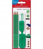 faber castell skrivesæt - 6 dele - grøn - Skole