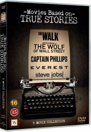 steve jobs // the walk // everest // the wolf of wall street // captain phillips - DVD