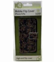 iphone 5/5s - flip cover - mønster - clover - Mobil Og Tilbehør