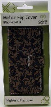 iphone 6/6s flip cover - clover - Mobil Og Tilbehør