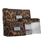 gillian jones - makeup taske / pung i 3 dele - leopard - Smykker Og Accessories
