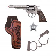 gohner - westerns cowboy set with pistol (42925) - Legetøjsvåben