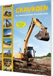gravkoen og andre maskiner på byggepladsen - bog