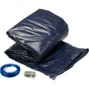 gre pool cover / overdækning til pool med wirelås - 730 x 375 cm - Bade Og Strandlegetøj