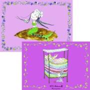 h.c. andersen dækkeservietter - prinsesse på ærten/den lille havfrue -