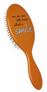 hh simonsen hårbørste - the wet brush med citat - orange - Hårpleje