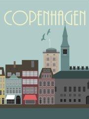 hoei danmark by plakat - københavn - 50 x 70 cm - Til Boligen