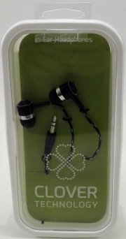 headset in ear - clover - sort - Tv Og Lyd