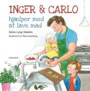 inger og carlo hjælper med at lave mad - bog