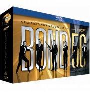 james bond - 50 års jubilæumsboks - ny 24 blu-ray boks- inklusive skyfall - Blu-Ray