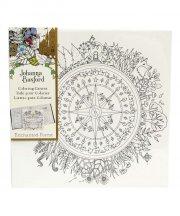 johanna basford - lærred på ramme - enchanted forrest, kompas - Kreativitet