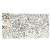 johanna basford - lærred på ramme - secret garden, blomster - Kreativitet