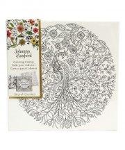 johanna basford - lærred på ramme - secret garden, påfugl - Kreativitet