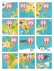 jorden rundt i 12 pixi-bøger - bog