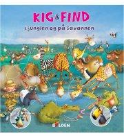 kig & find i junglen og på savannen - bog