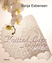 knitted lace - in white - bog
