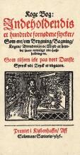 koge bog, indeholdendis et hundrede fornødene stycker, som ere om brygning, bagning, kogen, brendevijn oc miød at berede, sa - bog