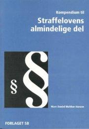 kompendium til straffelovens almindelige del - bog