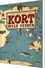 kort over verden - bog