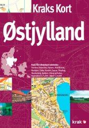 kraks kort østjylland - bog