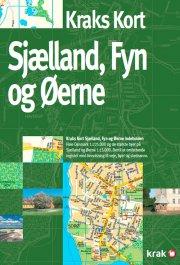 kraks kort sjælland, fyn og øerne - bog