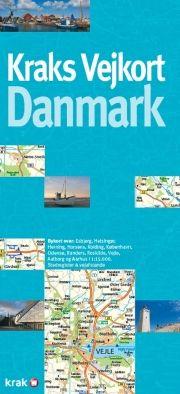 kraks vejkort danmark - bog