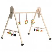 krea aktivitetsstativ / legestativ i træ - Babylegetøj