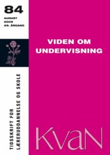 kvan 84 - viden om undervisning - bog