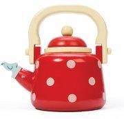 le toy van legekøkken tilbehør - te potte - honeybake - dotty kettle - Rolleleg