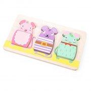 le toy van - petilou - chunky puslespil med mus i træ - Brætspil