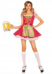 leg avenue - beer garden gretel costume - medium (8521902005) - Udklædning Til Voksne