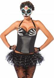 leg avenue - bony hands corset - medium (265102007) - Udklædning Til Voksne