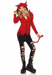 leg avenue - cozy devil costume - small (8531001003) - Udklædning Til Voksne