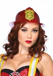 leg avenue - rød brandmands hjelm - Udklædning Til Voksne
