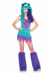 leg avenue - fuzzy frankie costume - x-small (8392225285) - Udklædning Til Voksne