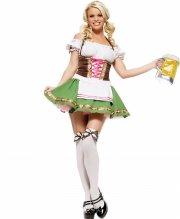 leg avenue - gretchen dress - x-small (8331125209) - Udklædning Til Voksne