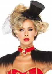 leg avenue - mini top hat with veil (2063) - Udklædning Til Voksne