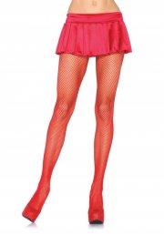leg avenue - nylon net strømpebukser - rød - Udklædning Til Voksne