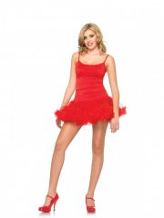 leg avenue - petticoat dress - red - medium-large (8360906003) - Udklædning Til Voksne