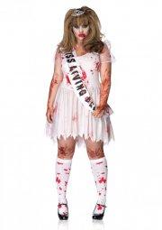 leg avenue plus size kostume - zombie prom queen - 1x-2x - Udklædning Til Voksne
