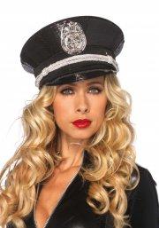 leg avenue - sequin cop hat (a1956) - Udklædning Til Voksne