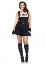 leg avenue plus size kostume - swat officer - 3x-4x - Udklædning Til Voksne