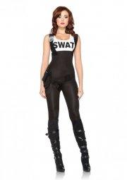 leg avenue - swat bombshell costume - medium (8516802001) - Udklædning Til Voksne