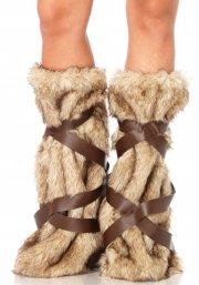 leg avenue - warrior fur leg warmers (2699) - Udklædning Til Voksne