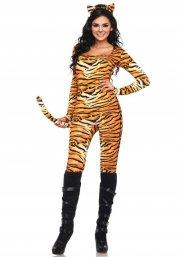 leg avenue - wild tigress costume - x-small (8389525109) - Udklædning Til Voksne