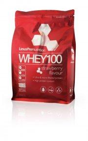 linuspro nutrition - proteinpulver - jordbær - 1kg - Kosttilskud