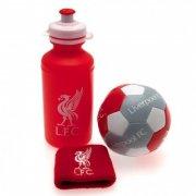 liverpool merchandise - gavesæt med drikkedunk, svedbånd og håndbold - Merchandise