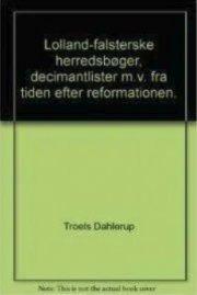 lolland-falsterske herredsbøger, decimantlister m. v. fra tiden efter reformationen, bind 2 - bog